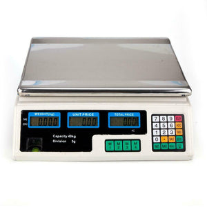 40kg/5g Digital Scale Computing Food Produce Electronic Counting Weight 88LB