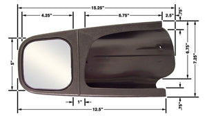 CIPA Mirrors 11500 Custom Towing Mirror Set Fits 94-96 F-150/F-350/Bronco