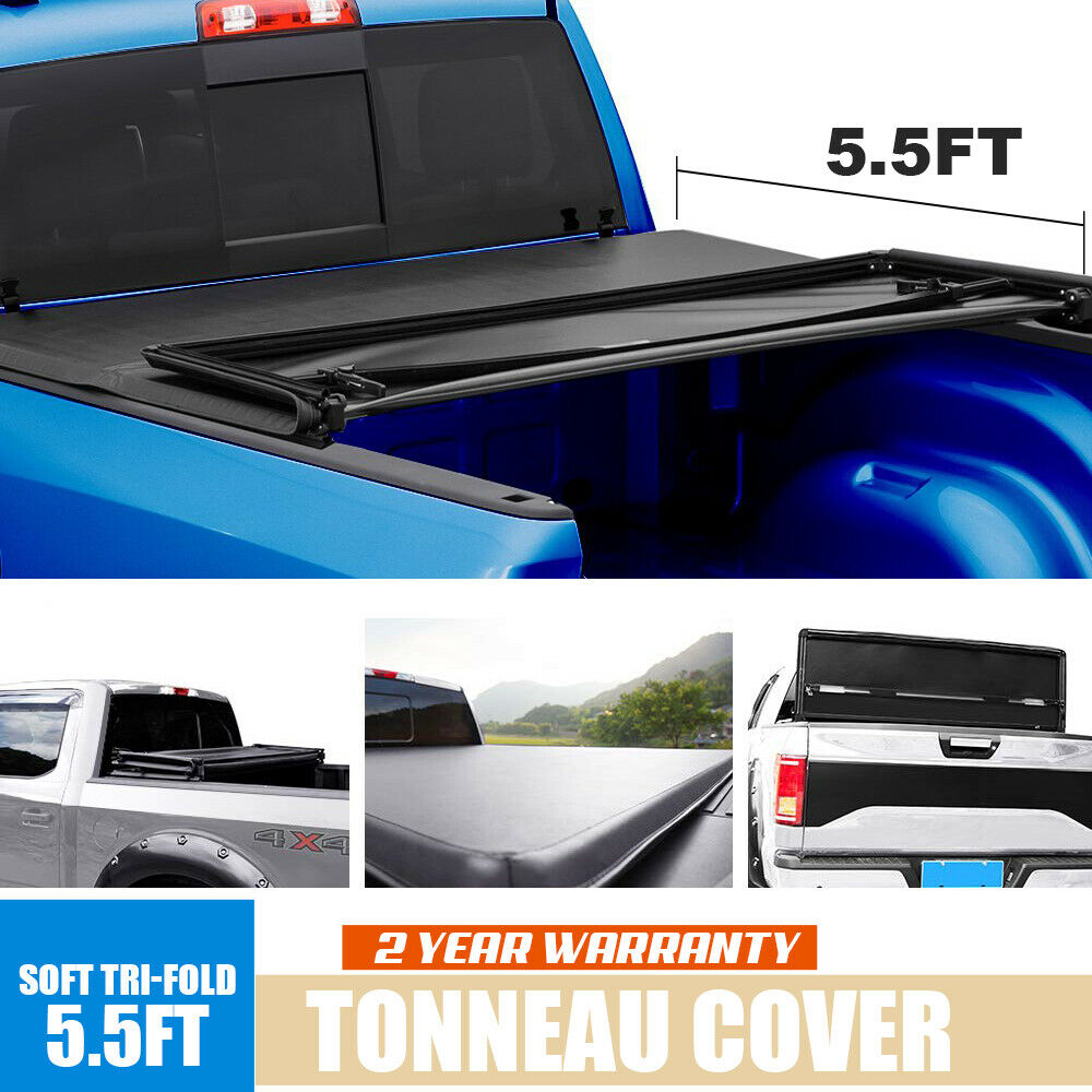 Fits 2014 2018 Ford F150 F 150 5 5ft Vinyl Truck Bed Soft Tri Fold Ton Parts Wholesale Canada