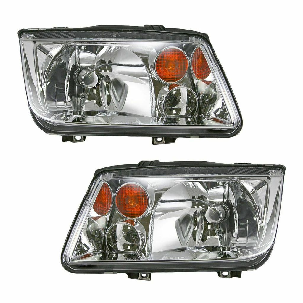 Headlights Headlamps Left & Right Pair Set NEW for 02-06 VW Jetta