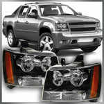 for 07 08 09 10 11 12 13 14 Chevy Suburban Tahoe Avalanche Headlight Pair Set