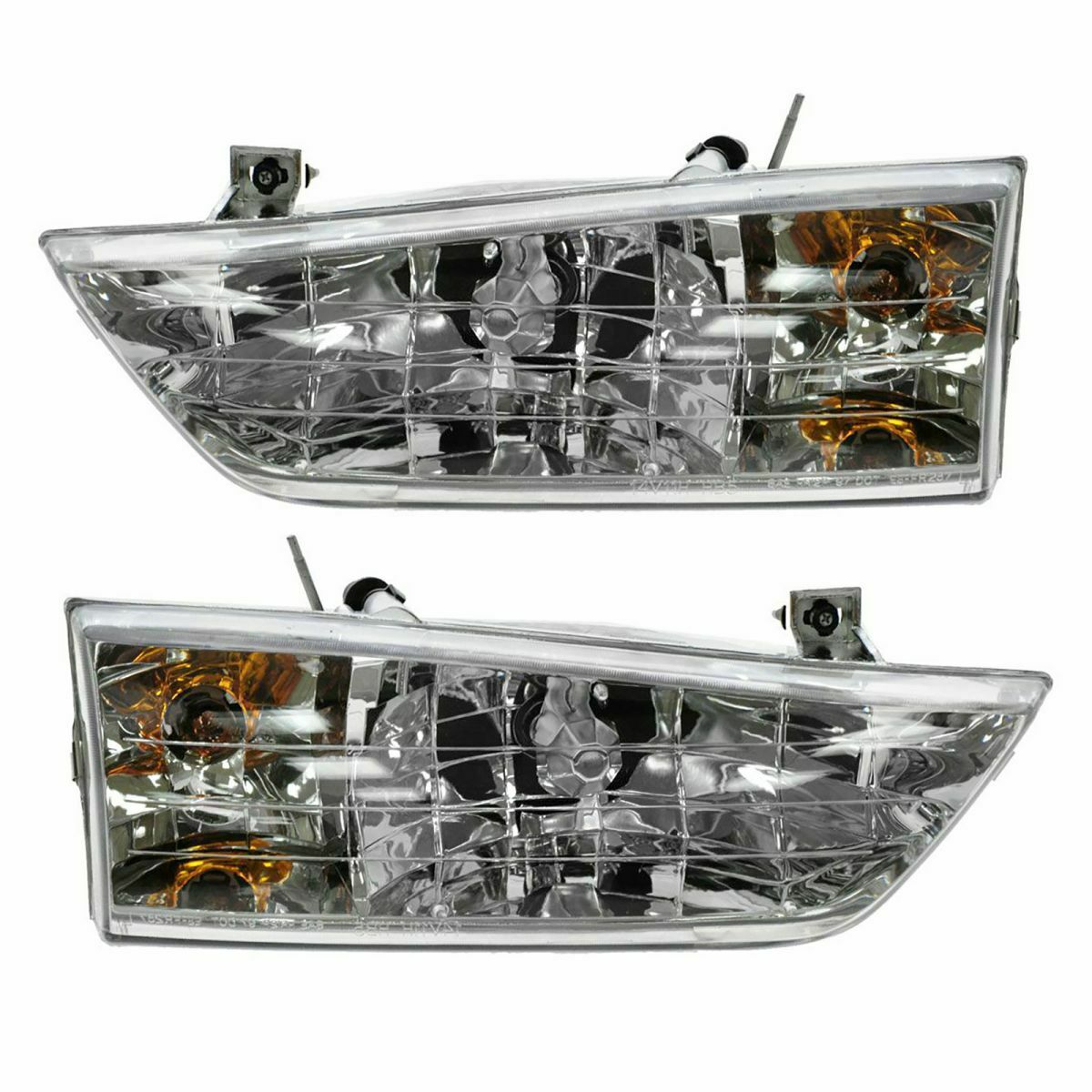 Headlights Headlamps Left & Right Pair Set NEW for 1998 Ford Windstar