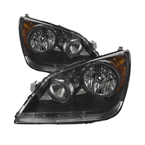Headlights Headlamps Pair Set Left & Right Fits 08-10 Honda Odyssey