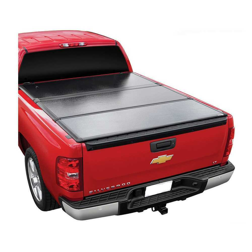 Black Trifold Truck Bed Tonneau Cover Fleetside Models Only Galaxy Auto Soft Tri Fold For 2010