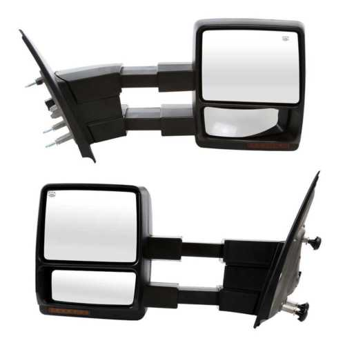 For 07-14 Ford F150 F-150 Tow Mirrors Power Heated Puddle Light LED Turn Signal