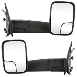 Pair Left+Right Manual Towing Mirrors fits 02-09 Dodge Ram 1500 2500 3500 Pickup