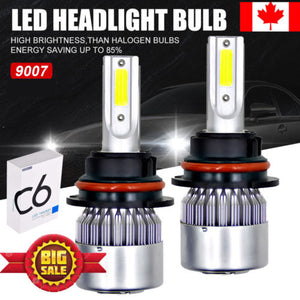 9007 HB5 LED Headlight Conversion Kit 1800W 270000LM High Low Beam Bulbs 6000K