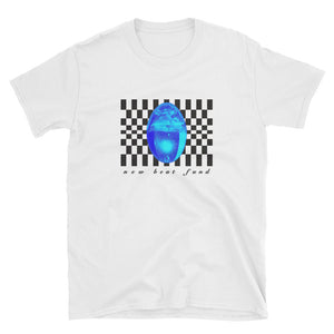 """Checkered Drop"" (White) Short-Sleeve Unisex T-Shirt"