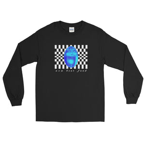 """Checkered Drop"" (Black) Long Sleeve T-Shirt"