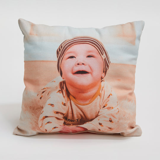 30x30cm Cotton Photo Cushion - Haddow Group