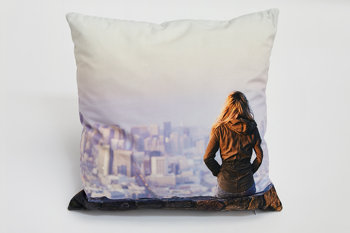 45x45cm Velvet Photo Cushion - Haddow Group