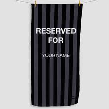 Load image into Gallery viewer, Black Reserved Towel - Haddow Group
