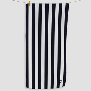 Black Striped Towel - Haddow Group