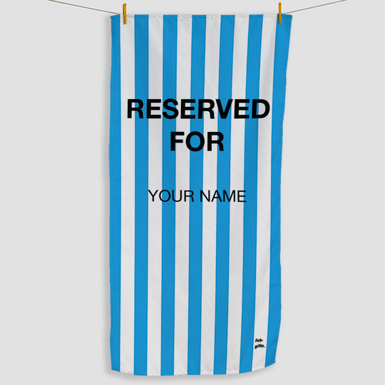 Bright Blue Reserved Towel - Haddow Group