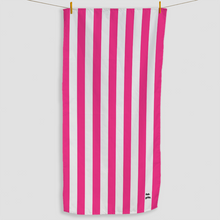 Load image into Gallery viewer, Bright Pink Striped Towel - Haddow Group