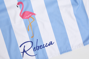 Flamingo Striped Towel - Haddow Group