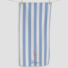 Load image into Gallery viewer, Flamingo Striped Towel - Haddow Group