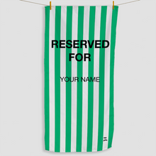 Load image into Gallery viewer, Green Reserved Towel - Haddow Group