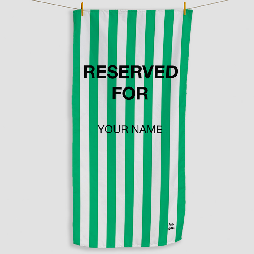 Green Reserved Towel - Haddow Group