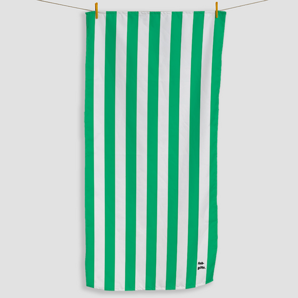 Green Striped Towel - Haddow Group