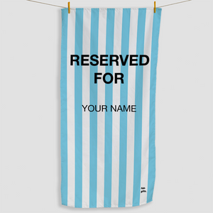 Light Blue Reserved Towel - Haddow Group