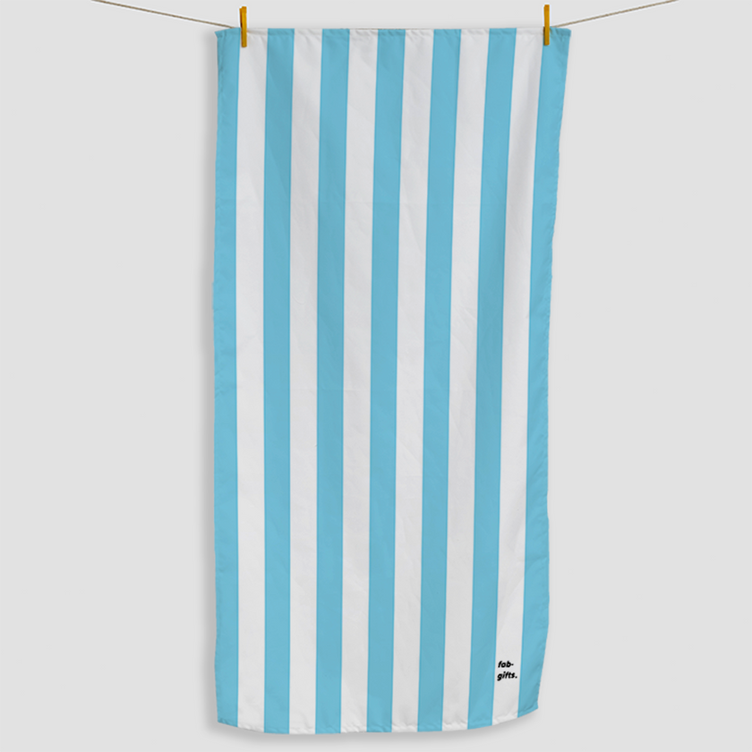 Light Blue Striped Towel - Haddow Group