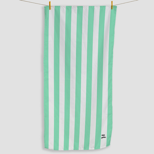 Mint Striped Towel - Haddow Group