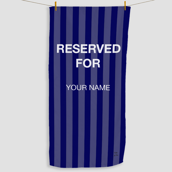Navy Reserved Towel - Haddow Group