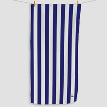 Load image into Gallery viewer, Navy Striped Towel - Haddow Group
