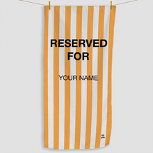 Load image into Gallery viewer, Orange Reserved Towel - Haddow Group