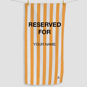 Orange Reserved Towel - Haddow Group