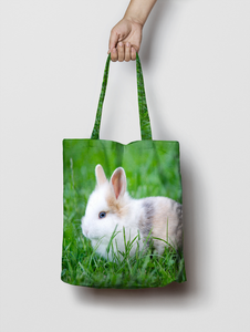 Personalised Photo Canvas Tote Bag