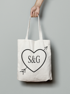 Personalised Text Canvas Tote Bag