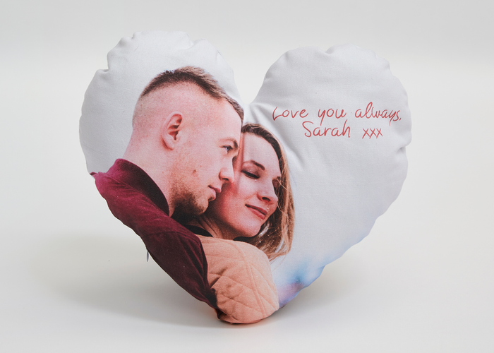 Personalised Heart Cushion - Haddow Group