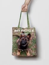 Load image into Gallery viewer, Personalised Photo Shopping Tote Bag