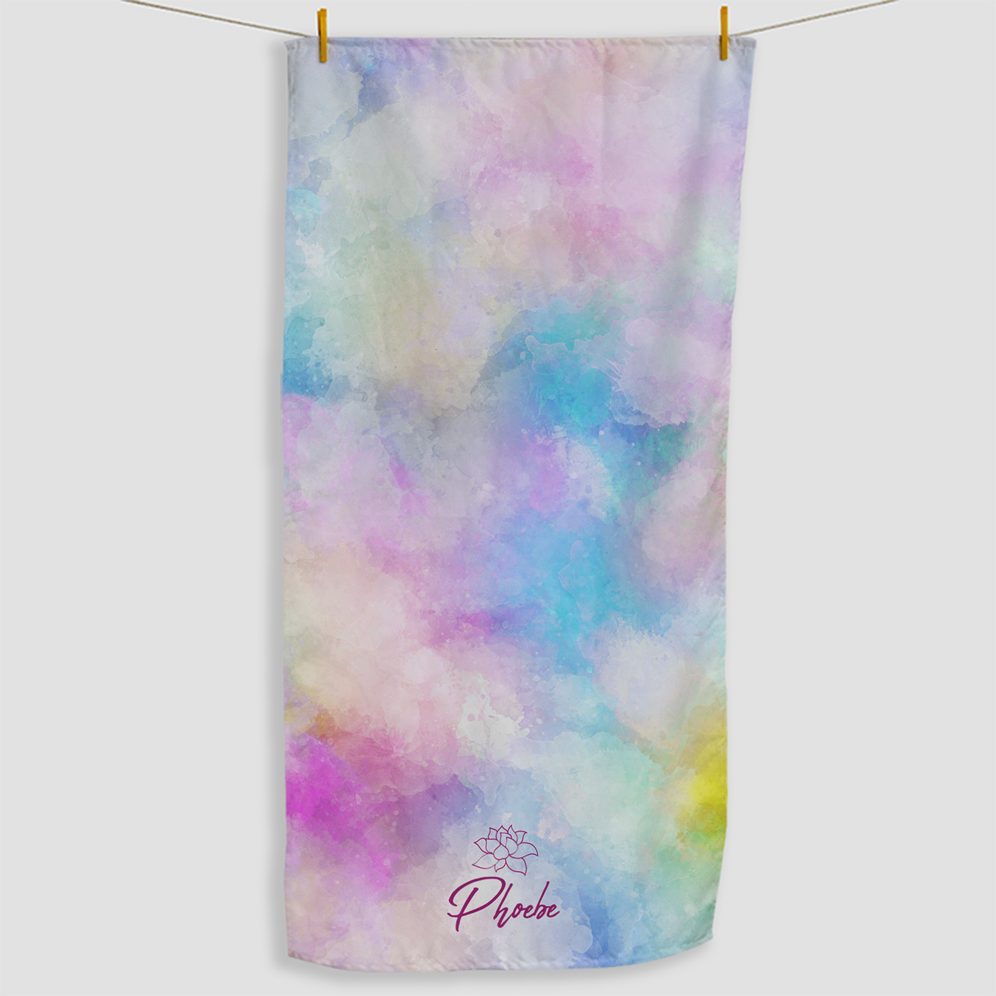 Rainbow Cloud Towel - Haddow Group