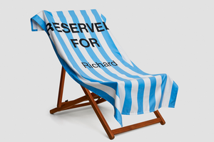 Black Reserved Towel - Haddow Group