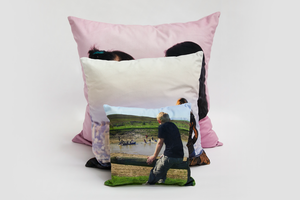 60x60cm Velvet Photo Cushion - Haddow Group