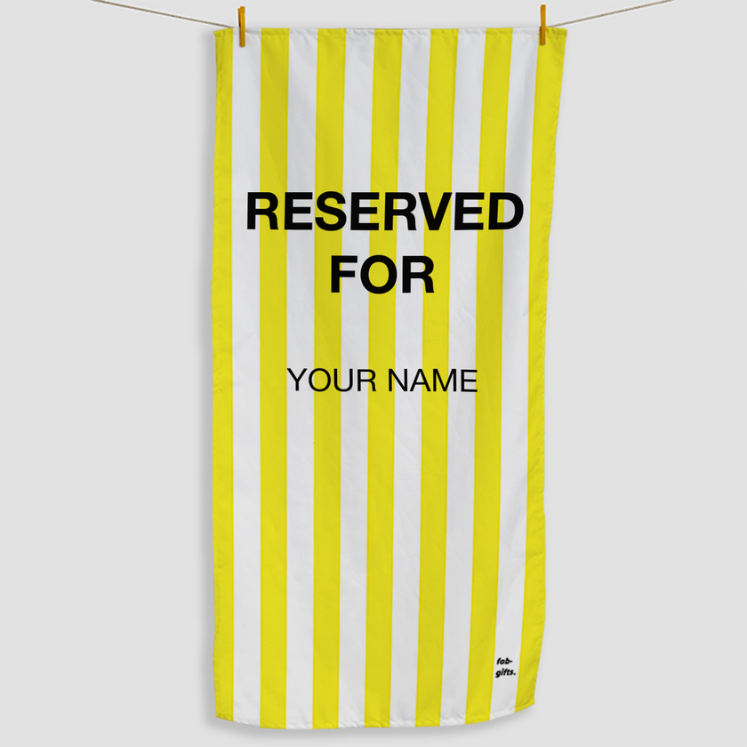 Yellow Reserved Towel - Haddow Group