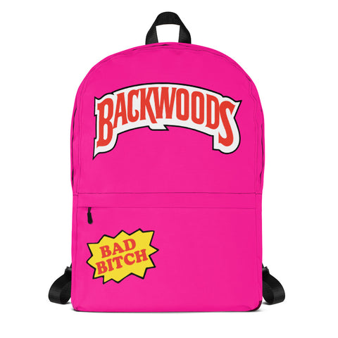"Backwoods ""Bad Bitch"" Pink Backpack"