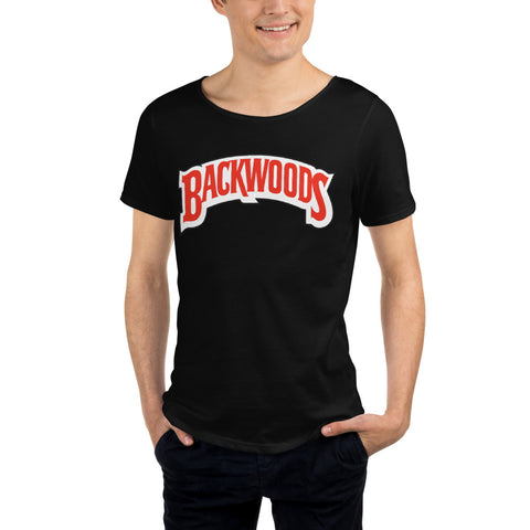 Backwoods Men's Raw Neck Tee