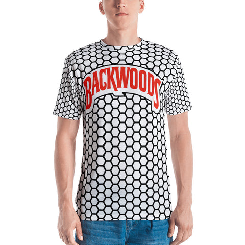 Backwoods White & Black Comb Men's T-shirt
