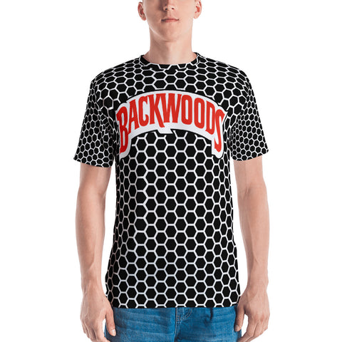 Backwoods Black & White Comb Men's T-Shirt