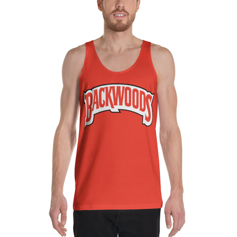 Backwoods Red Unisex Tank Top