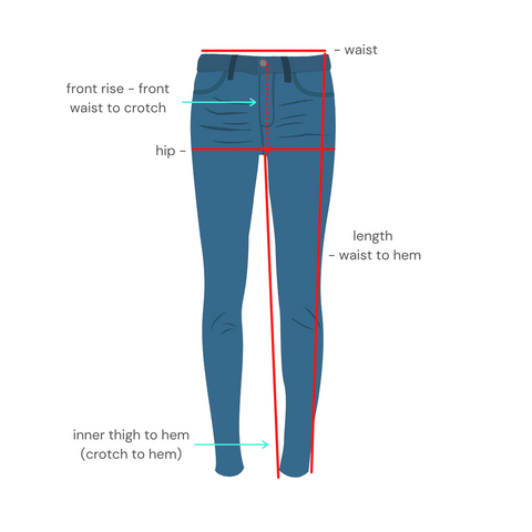 How to measure guide denim jeans