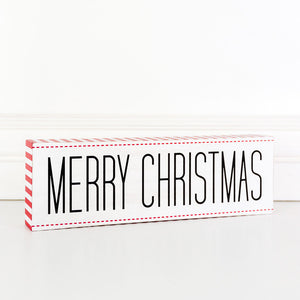 Merry Christmas Wood Block Sign - Posh West Boutique