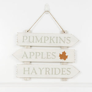 Pumpkins, Apples, Hayrides Wood Sign - Posh West Boutique