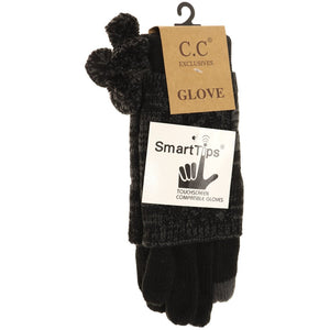 CC Smart Glove, Multi tone, Black/Gray - Posh West Boutique