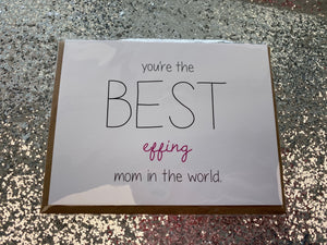 Best Mom Greeting Card - Posh West Boutique