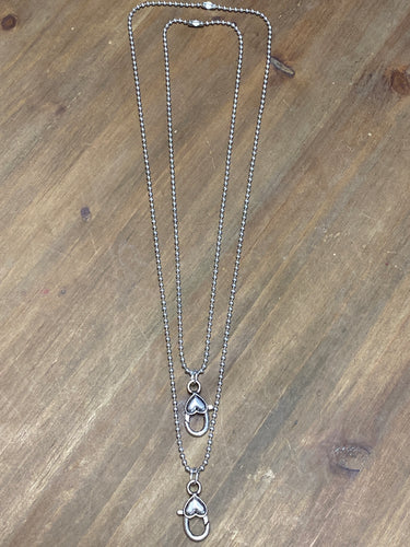 Small Heart Lobster Clasp Charm Catcher Necklace-2 lengths available - Posh West Boutique
